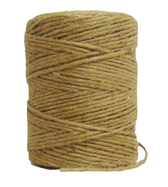 String Twine 200/' thick Natural Jute-burlap 3-ply Cord Rope Craft Supply