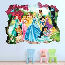 Princess Ariel Disney Wall Decal Decor Kids Smashed 3D Sticker Art Vinyl AH313