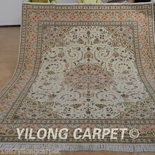 Yilong 8'x10' Wool Area Rugs Hand knotted Silk Furniture Carpets Handmade 1330