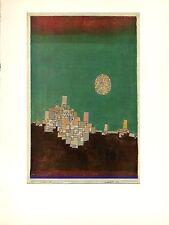 """1967 Vintage PAUL KLEE """"CHOSEN SITE"""" TUNISIA KAIROUAN COLOR offset Lithograph"""
