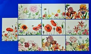 Stunning-Set-of-10-NEW-Flowers-Postcards-for-Postcrossing-amp-Postcardsofkindness