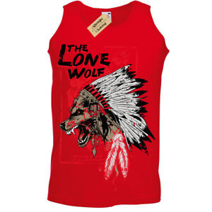 The-lone-wolf-T-Shirt-chieftan-indian-headress-Vest-Mens
