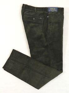145-Men-Polo-Ralph-Lauren-Slim-Fit-Dress-Casual-Classic-Corduroy-Pants-36-38-34