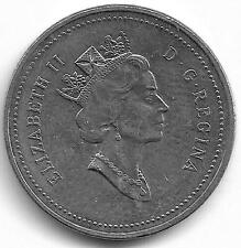 Canada Queen Elizabeth II 5 Cents Coin - 1994