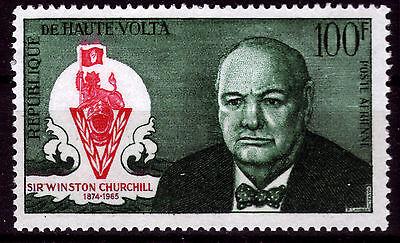 Todestag Winston Churchill Eleganter Auftritt Burkina Faso-obervolta 206 ** 1