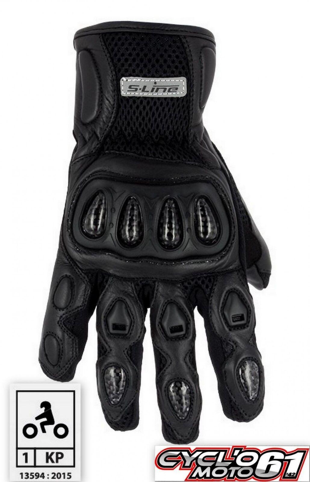Handschuhe Sommer Motorrad aus route genehmigt 007 black Größe XS