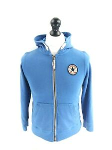 CONVERSE-Boys-Hooded-Jacket-10-12-Years-Blue-Cotton-amp-Polyester