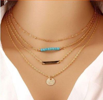 Charm Crystal Choker Chunky Statement Bib Necklace Fashion Jewelry Chain Pendant