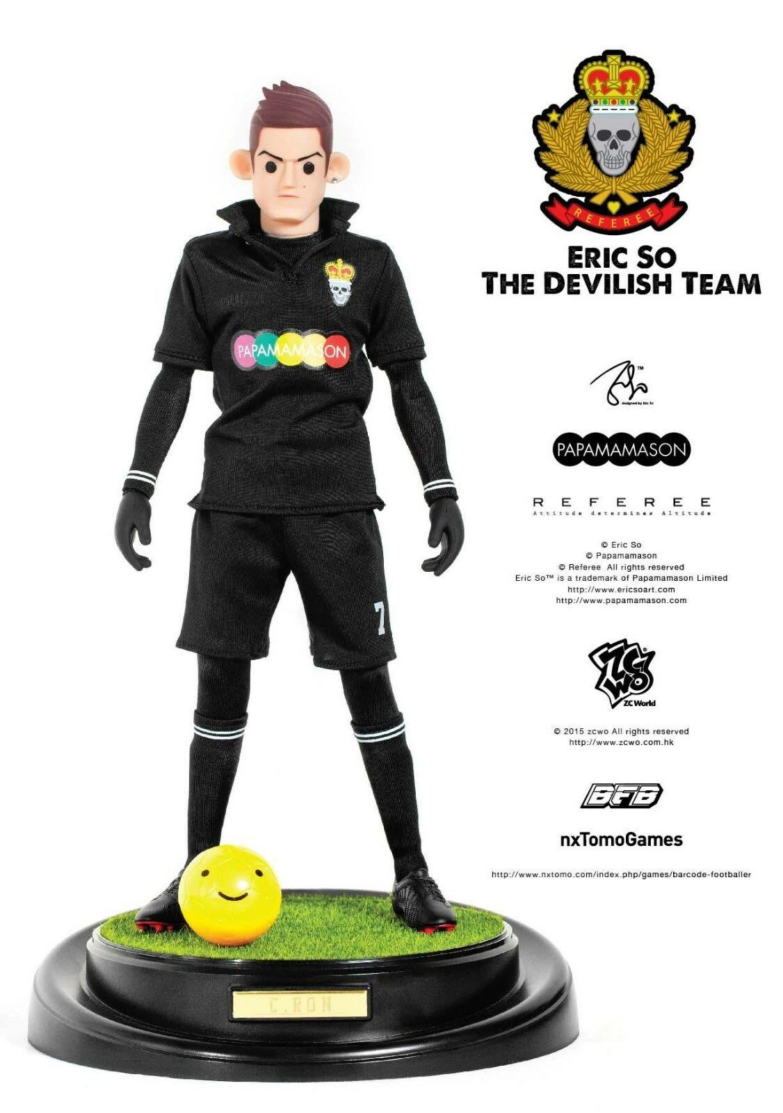 ZCWO 1 6 Eric So Papamamason The Devilish Team X X X BFB  - C.RON Designer Toy 42e381