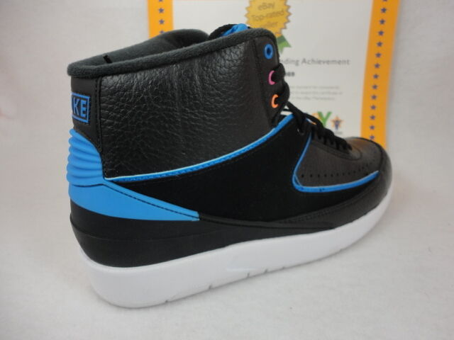 Nike Air Jordan 2 Retro, Black / Photo Blue - White - FR Pink, 834274 014 Sz 12
