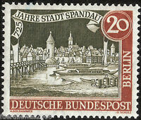 Berlin MiNr. 159 y ** 725 Jahre Spandau  waagerechte Riffelung aus Bogentrennung