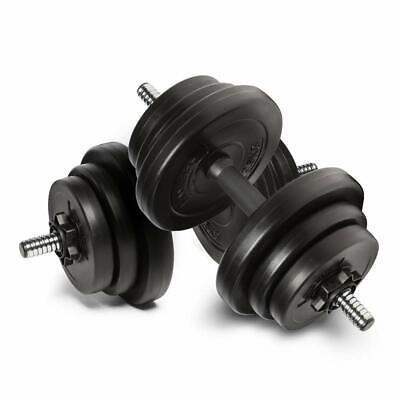 Adjustable Dumbbells set 20kg Free Weight Weights Barbell Sets Bars Dumbells UK
