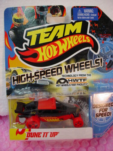 2012 Hot Wheels Team HW DUNE IT UP ∞BLACK ∞ w/ Red High-Speed Wheels∞HWTF