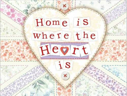Novelty Fridge Magnet Kitchen Home British Gift Home is where the Heart is