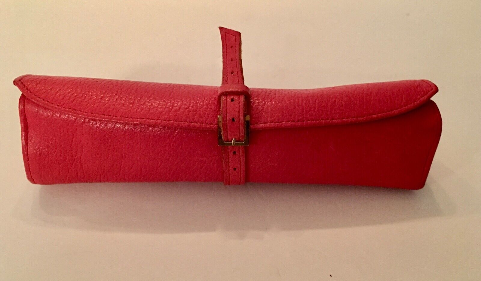 Dunhill Authentic Vintage Red Leather Jewelry Organizer Unisex Wallet