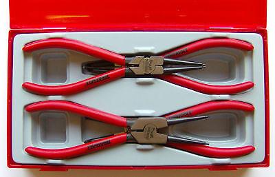 """Genuine Teng Tools 4 Pièces Mega Morsure 7/"""" Circlip Pince Set TT474-7"""