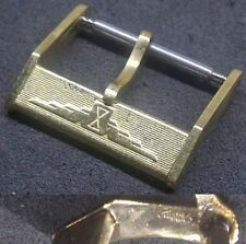 Original Longines Buckle Fibbia 16mm from 1970 Yellow Gold Plated Excellent L@@K