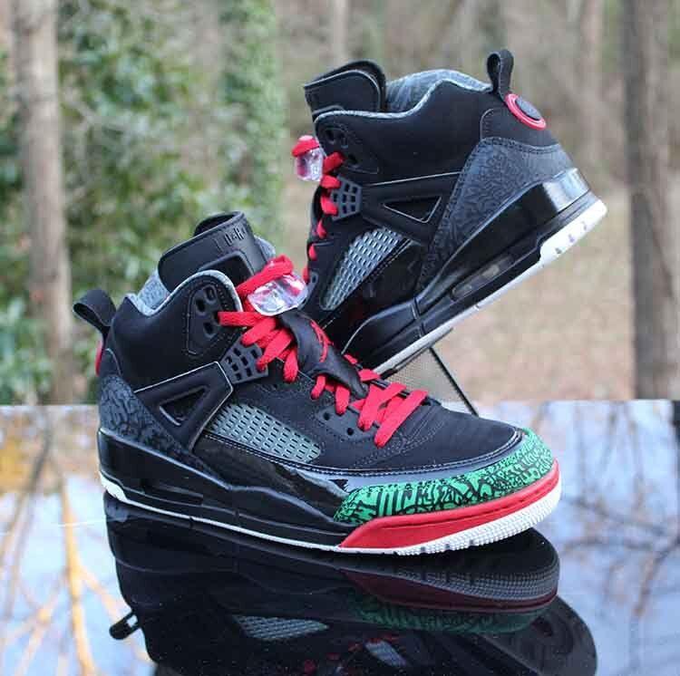 Nike Air Jordan Spizike OG Black Green Red 315371-026 Men's Size 9.5