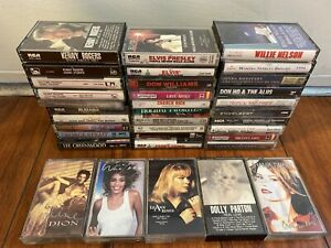 Lot-of-35-Classic-Country-Soul-R-amp-B-POP-Rock-amp-Roll-Cassette-Tapes-Elvis-Presley