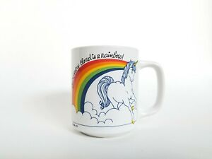 VTG-1980s-Unicorn-Rainbow-Mug-Wallace-Berrie-Beyond-every-cloud-is-a-rainbow