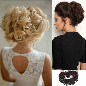 XXL-Scrunchie-Haargummi-Haarteil-Haarverdichtung-Hochsteckfrisur-Haar-Extension