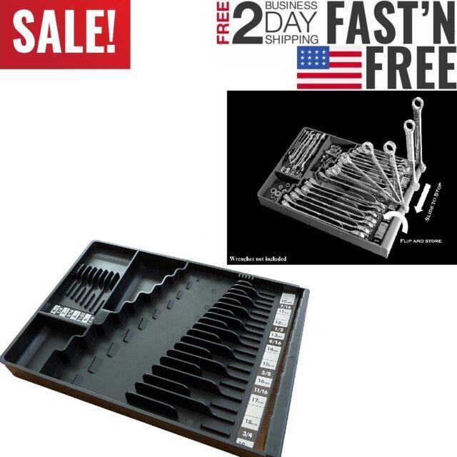 Tool Box Craftsman Slide-Flip-Store Chest Socket Rack Tray Rail Organize Plastic