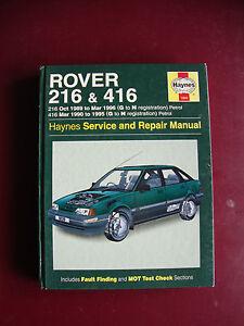 haynes car manual rover 214 216 ebay rh ebay co uk Rover 214 Keys Car Rover 214 1991 Loughton Essex