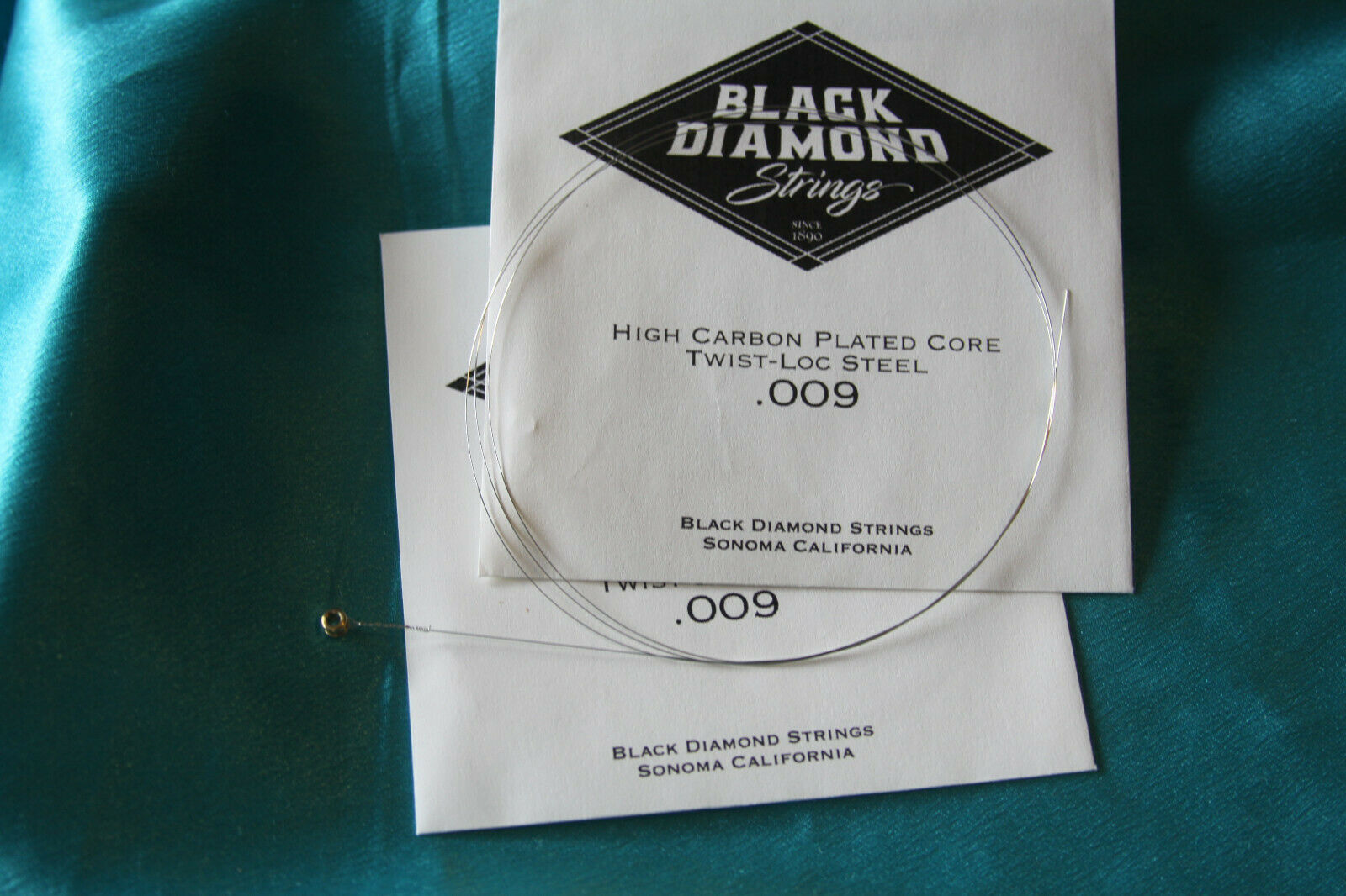 MPN .010P .010 Gauge Pair of Black Diamond Plain Steel Ball End Strings