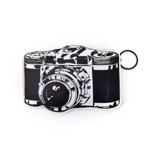 1PC Fashion PU Leather Mini Coin Purse Wallet bag Charm Keychain Ring/_DM
