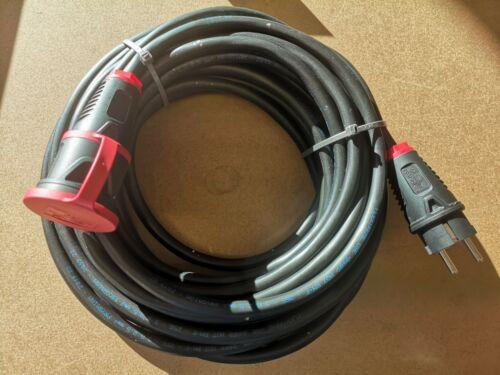 Extérieur Rallonge 2.0 h07rn-f 3x2,5//20 m Câble En Caoutchouc ip54 Taurus 2 Rouge
