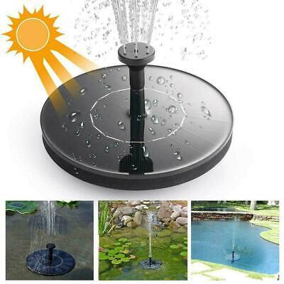 LED Solarpumpe Wasserbrunnen für Gartenteich Springbrunnen Teichpumpe Fontäne
