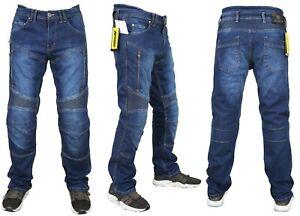 Pantaloni-moto-Uomo-Jeans-Denim-Blu-Protezioni-Omologate-in-ITALIA-Aramide-CE