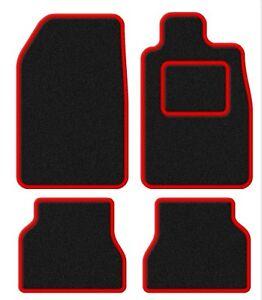 Daihatsu-Copen-03-Velour-Black-Red-Trim-Car-mat-set