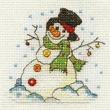 DMC Christmas Mini Cross Stitch Kit Snowman
