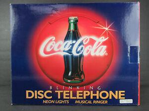 VINTAGE COCA-COLA DISC TELEPHONE UNUSED IN ORIGINAL BOX  - COMPLETE