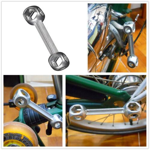 10 in 1 Bicycle Bike Repair Tool Dog Bone Shape Torque Wrench Hexagon 6-15mm
