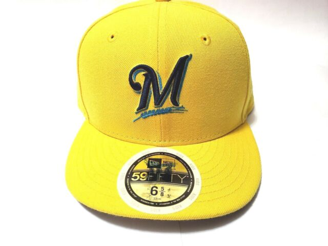 c7dec0772d486b New Era Milwaukee S 6 5/8 Yellow 2017 Players Weekend Low Profile 59FIFTY  Fitted