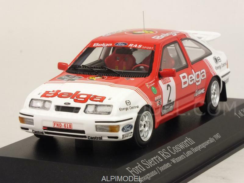 promociones emocionantes Ford Sierra RS RS RS Cosworth Winner Lotto Rally Haspengo 1 43 MINICHAMPS 437878102  estar en gran demanda