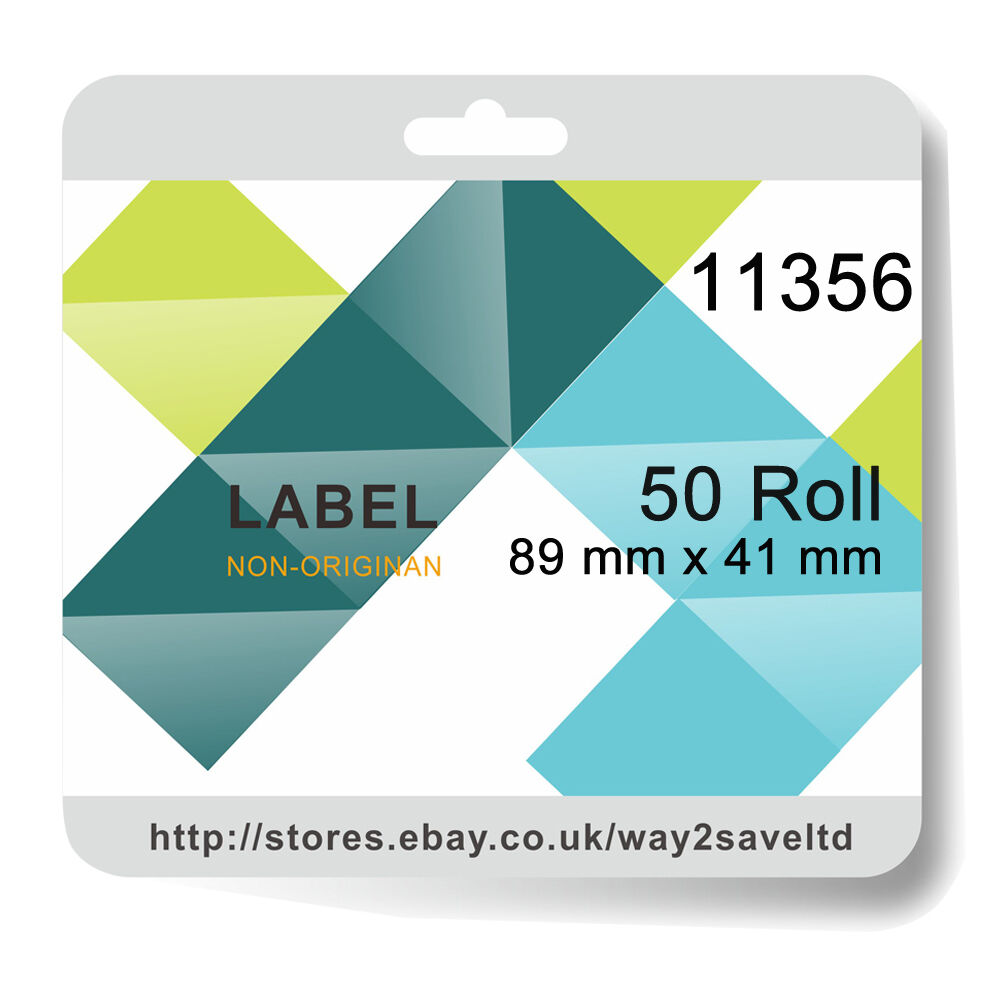 50 Roll 11356 Compatible Dymo Sieko Address 300 Labels per Roll 89mm x 41mm