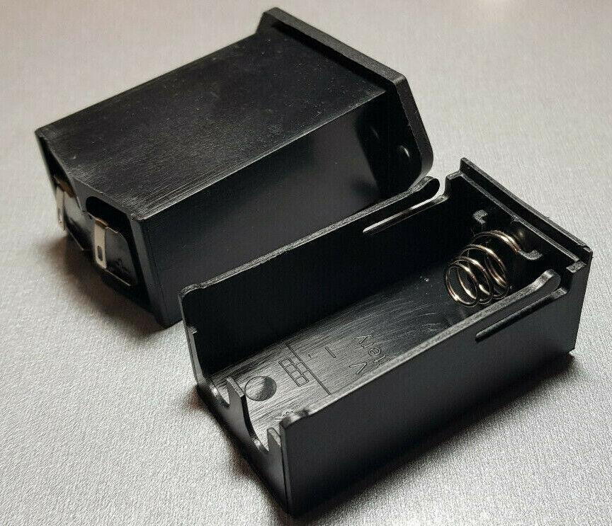 9V Enclosed Battery Holder Flush Mount
