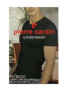 T-SHIRT-GIROCOLLO-PIERRE-CARDIN-IN-COTONE-CON-FELPINA-ALL-039-INTERNO