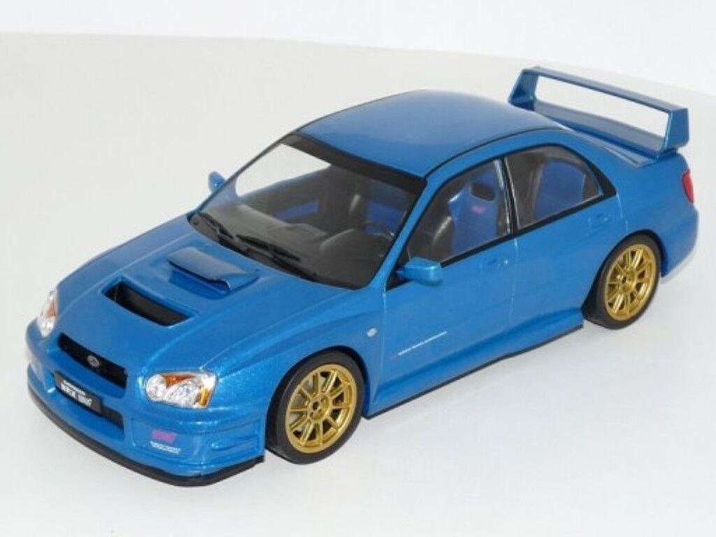 Ixo 18cmc004 subaru impreza wrx sti ein diecast modell wagen blaue 2003 1 18th