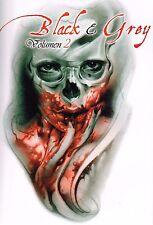 Tattoovorlagen Flash CD Vorlagen Motive Book  Black and Grey vol.2 Neu + Bonus