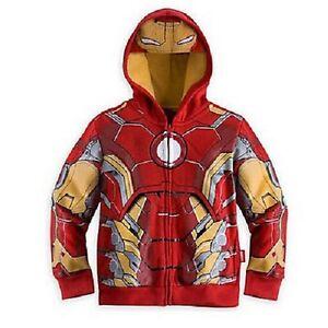 SUPER HEROS Felpa Con Cappuccio Iron Man Giacca con Zip per Ragazzi Bambini Avengers Capitan America  </span>