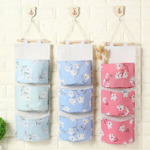 Image Is Loading 3 Grids Wall Hanging Storage Bag Organizer Container