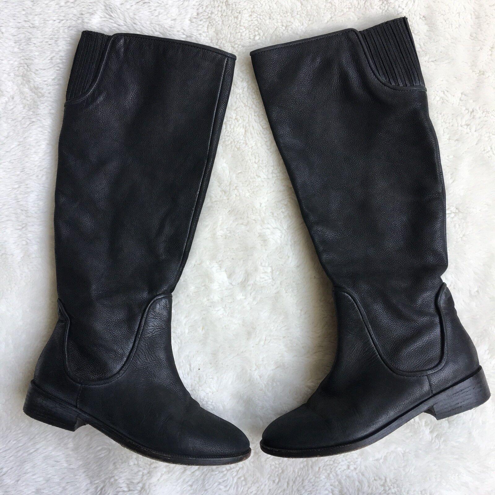 popolare Joie donna's Leather Tall stivali Dimensione 36 nero Zip Zip Zip Pull On Riding Stretch  negozio di vendita outlet