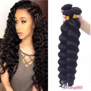 Details About Brazilian Deep Wave Bundles Deep Curly Hair 4bundles 200g Extensions Weave Weft