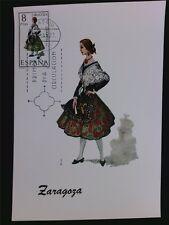 SPANIEN MK 1971 TRACHTEN ZARAGOZA COSTUMES MAXIMUMKARTE MAXIMUM CARD MC CM c5582
