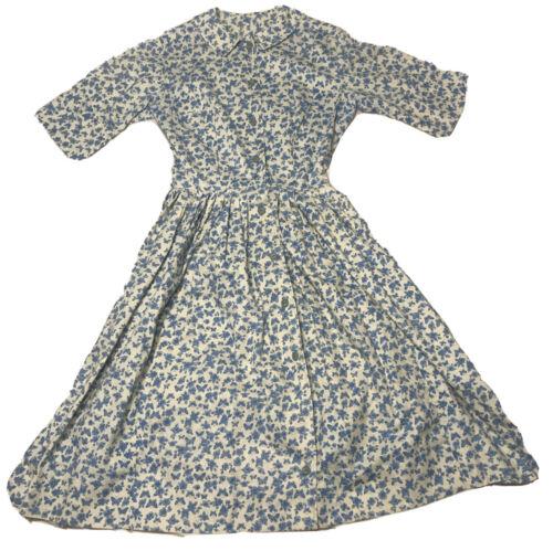 Vintage Handmade Homemade Floursack Dress Cotton B