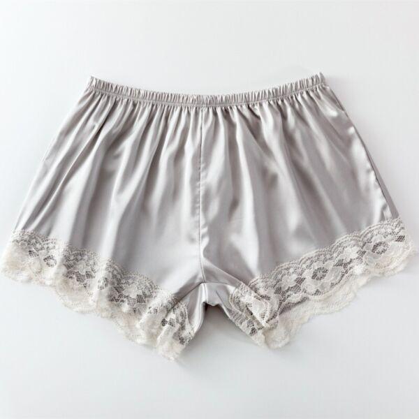 Damen Satin Spitze Slips Höschen Shorts Slip Kunstseide Unterwäsche Bloomers